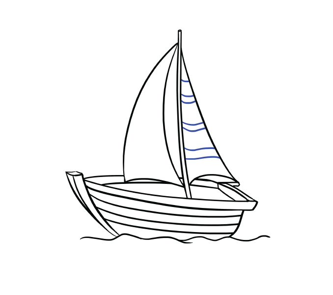 678x600 How To Draw A Boat In A Few Easy Steps Easy Drawing Guides