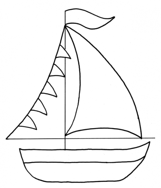 photo regarding Sailboat Printable referred to as Sailboat Drawing For Youngsters Totally free down load great Sailboat