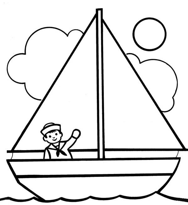Sailboat Drawing For Kids | Free download best Sailboat ...