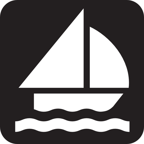 600x600 Free Sailboat Clipart Silhouette Image