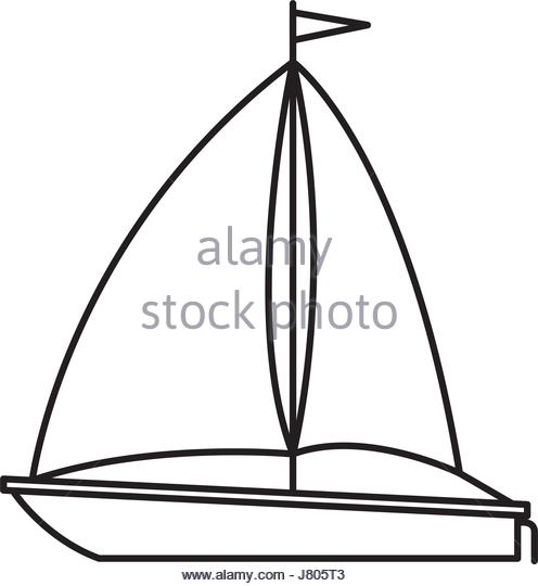 496x540 Black Sailboat Silhouette Vector Stock Photos Amp Black Sailboat