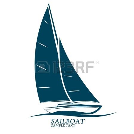 450x450 Sailboat Silhouette Icon Set ,vector Illustration Royalty Free