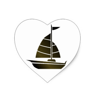 324x324 Sailboat Silhouette Stickers Zazzle