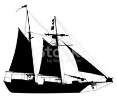 240x200 Sailboat Silhouette Stock Vectors