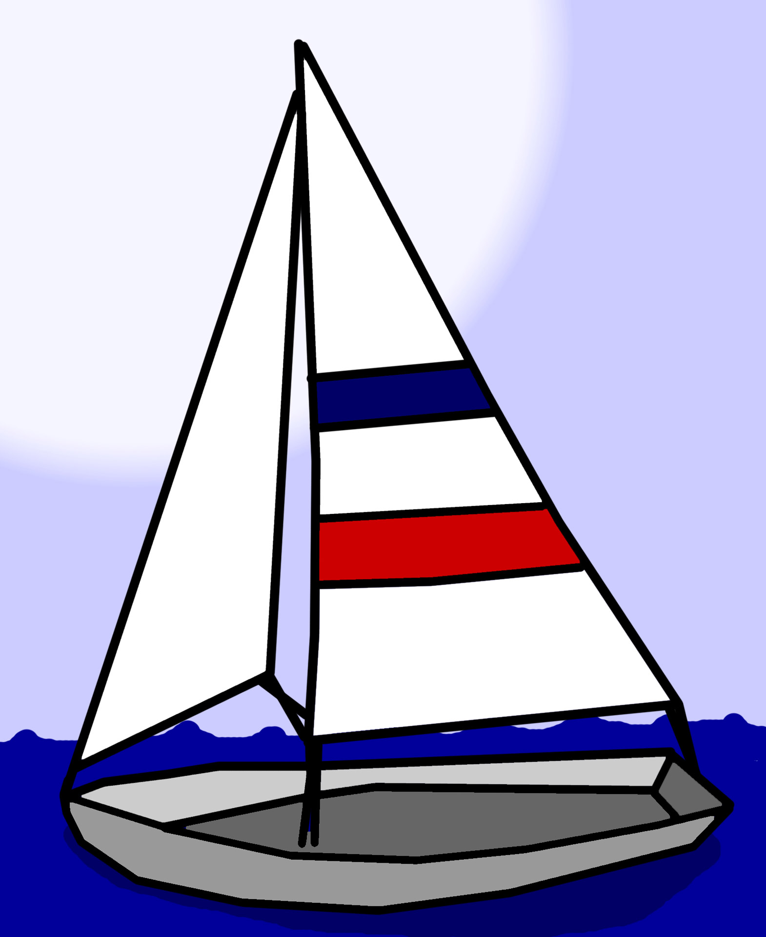 1570x1920 Sailboat Clipart Dinghy Pencil And In Color Sailboat