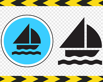 340x270 Sailboat Silhouette Etsy