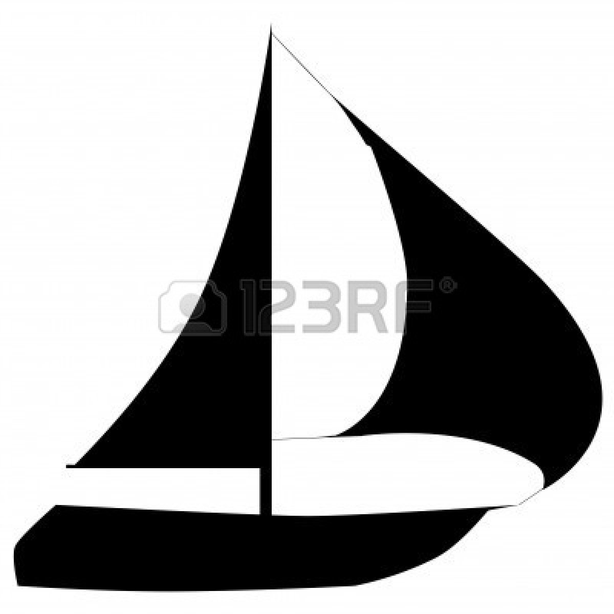 1200x1200 Yacht Clipart Silhouette