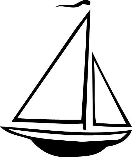 422x500 Sailboat Clipart Silhouette