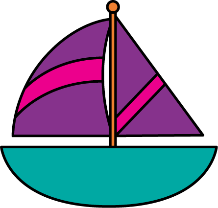 445x425 Colorful Clipart Sailboat