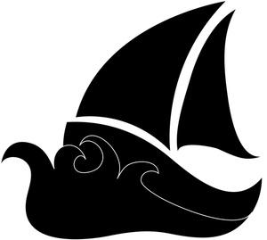 300x269 Sailboat Clipart Image