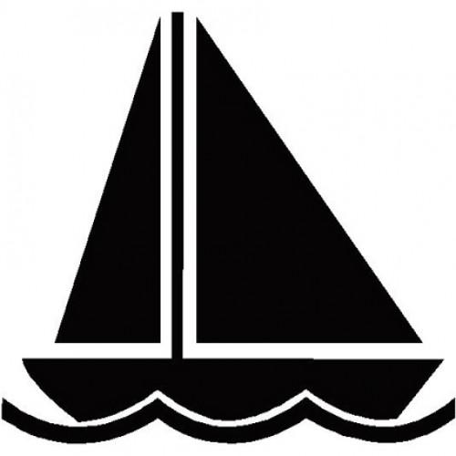 500x500 Sailboat Silhouette Clip Art