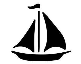 340x270 Sailing Boat Clipart Silhouette