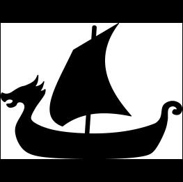 263x262 Viking Ship Silhouette Svg Vikings, Silhouettes