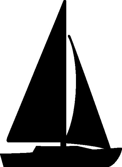 416x570 Sailboat Black And White Sailboat Free Sailing Clip Art Vector