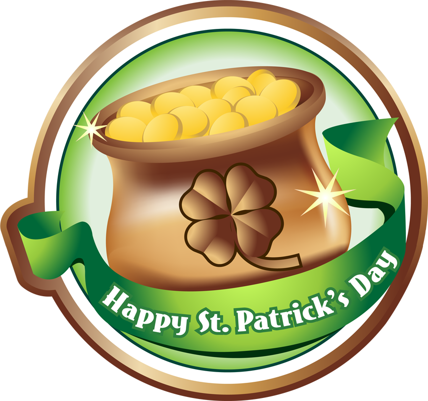 847x792 Free Clip Art Holiday Clip Art St. Patrick's Day Pot Of Gold