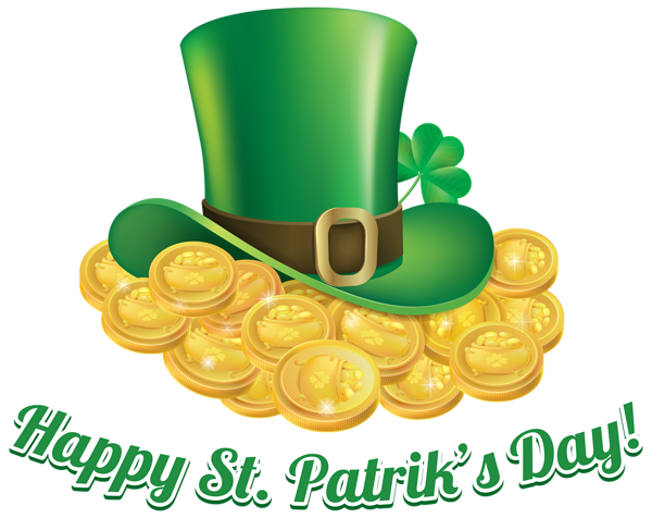 600x476 St Patricks Day Coins And Hat Transparent Png Clip Art Image