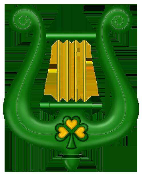 500x608 St Patricks Day Green Harp Clipart