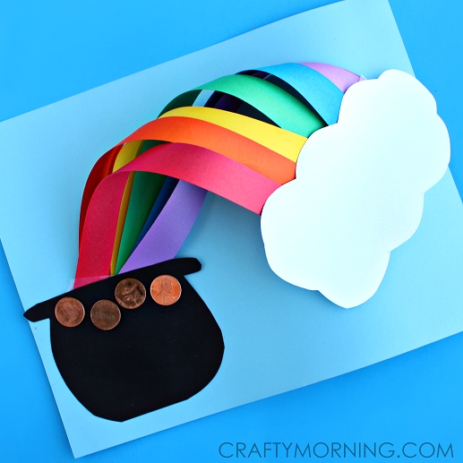 517x517 3d Over The Rainbow St. Patrick's Day Craft