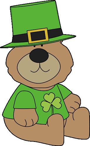 307x500 Saint Patrick's Day Bear Clip Art