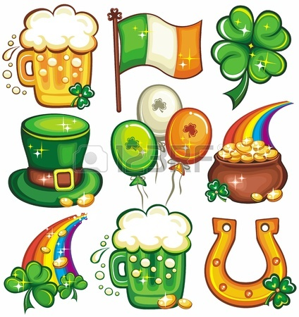 424x450 St. Patricks Day Clip Art On White Background. Royalty Free