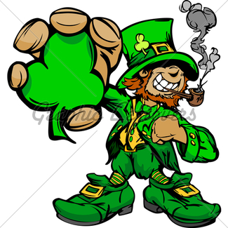 325x325 Smiling St. Patricks Day Leprechaun With Pot Of Gl Stock Images