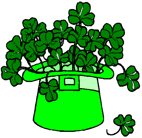 490x473 Saint Patrick's Day Clipart Images, Black And White, Clover