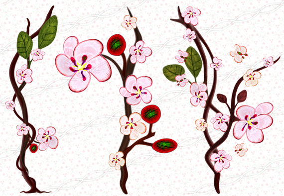 570x394 Instant Download 300dpi Png Sakura Borders Frames Drawing Print