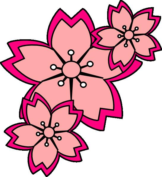 546x599 Blossoms Clip Art