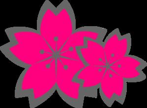 299x219 Pink Sakura Flowers Clip Art