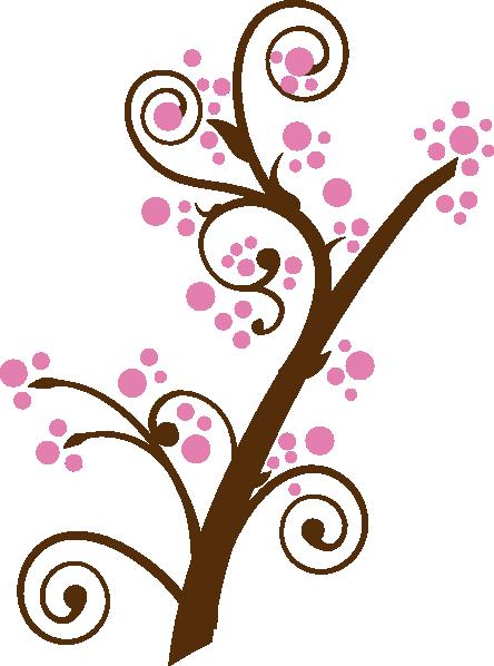444x598 Plum Blossom Tree Clip Art