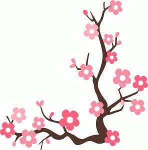 296x300 Sakura Blossom Clipart Border