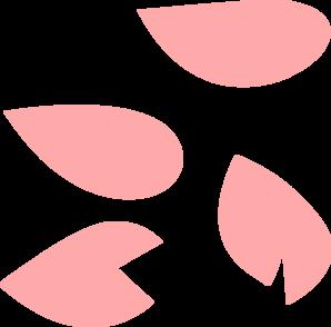 298x294 Sakura Petal Pink Clip Art