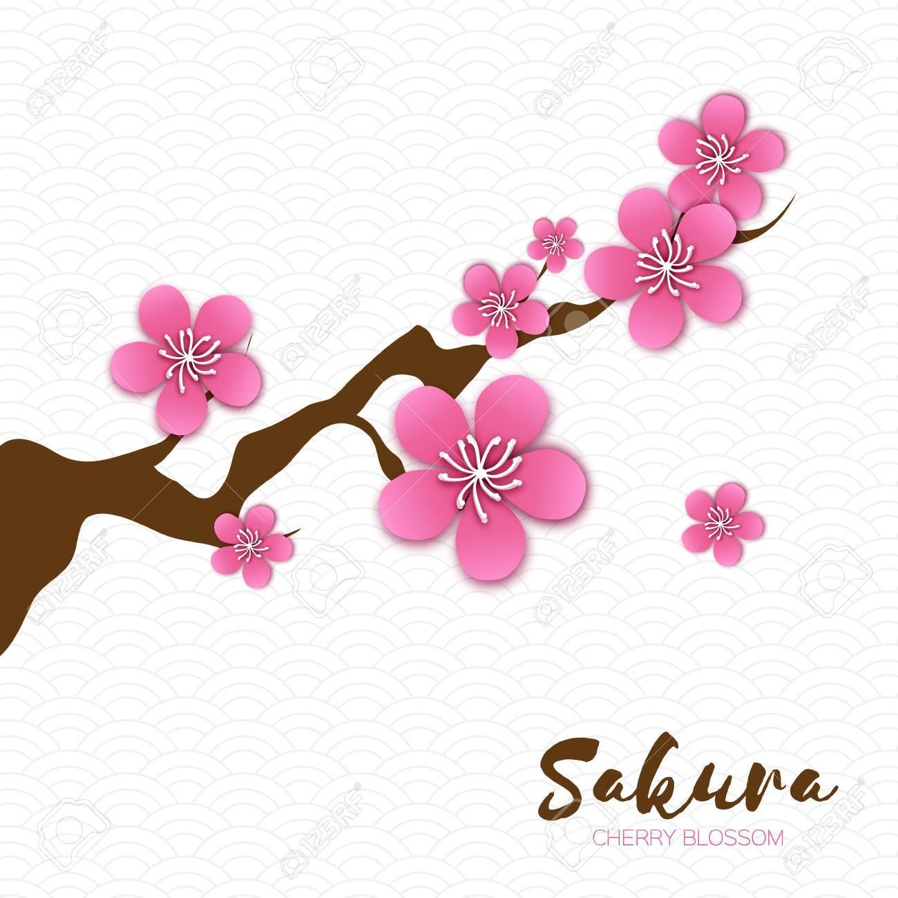 1300x1300 Spring Cherry Blossom. Pink Beautiful Sakura Branch