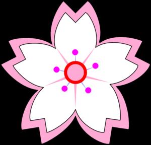 300x288 White Pink Sakura Clip Art