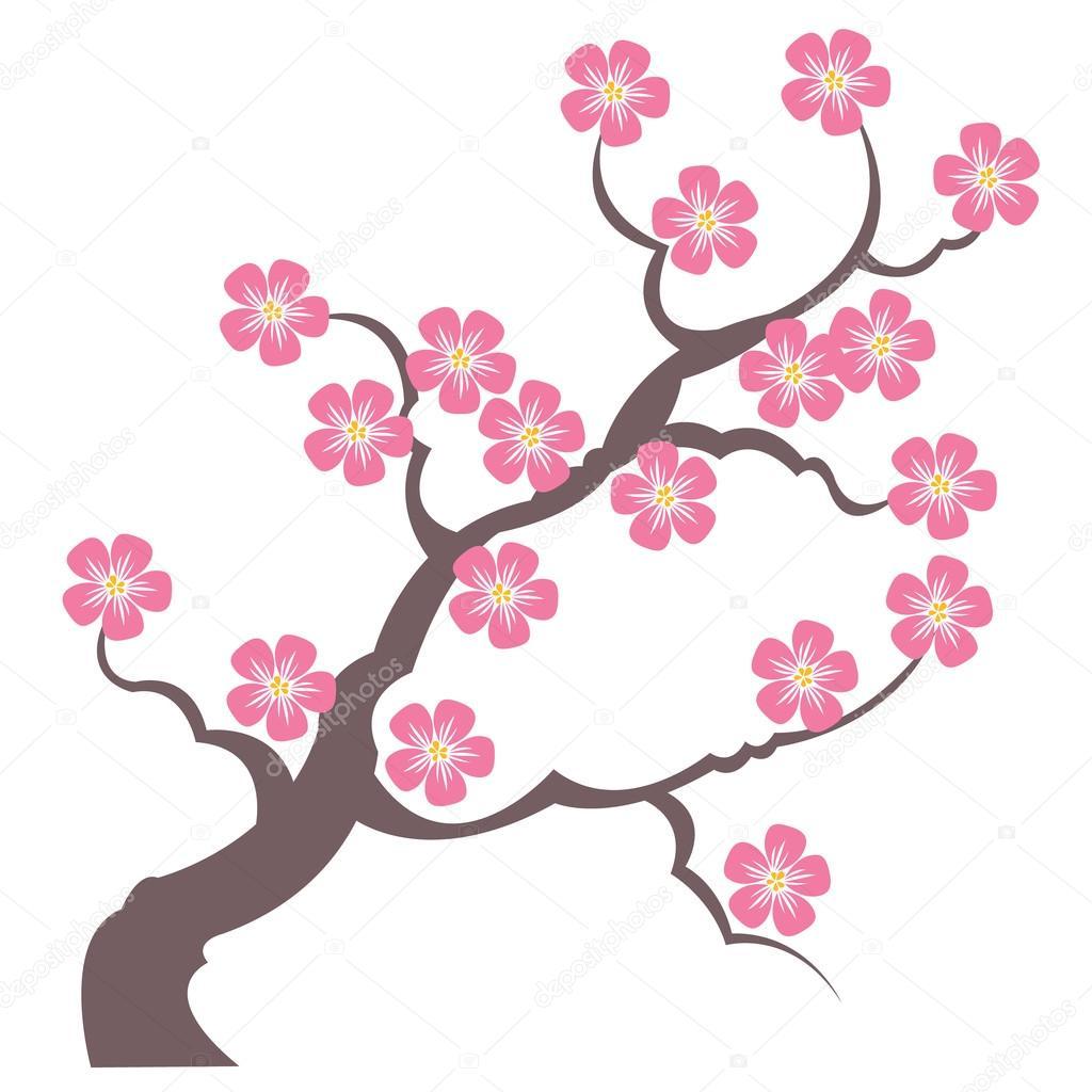 1024x1024 Silhouette Branches Of Sakura Stock Vector Annasuchkova
