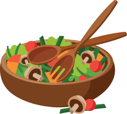 Salad In A Bowl Clipart Free Download Best Salad In A Bowl Clipart