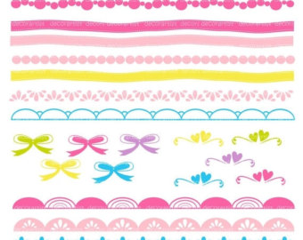 340x270 On Sale Border Clipart Digital Border Pink Border Girls