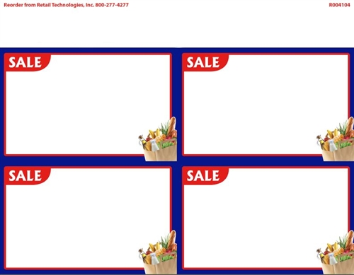 500x389 R004104 4up Corner Image SALE Grocery wlue Border on Glossy