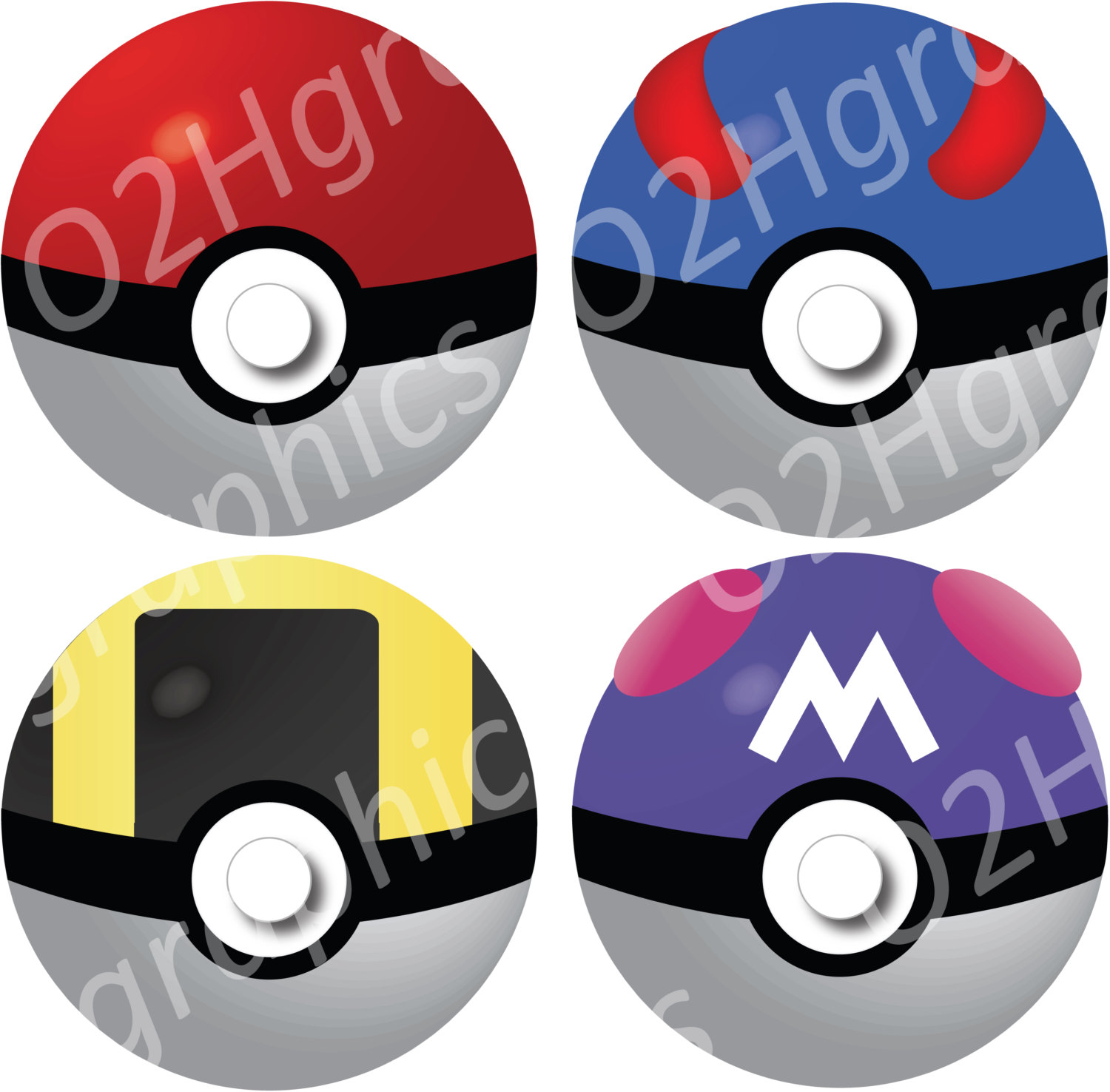1500x1476 Pokemon Clipart, Pokeball Clip Art, Vector Clipart, Digital