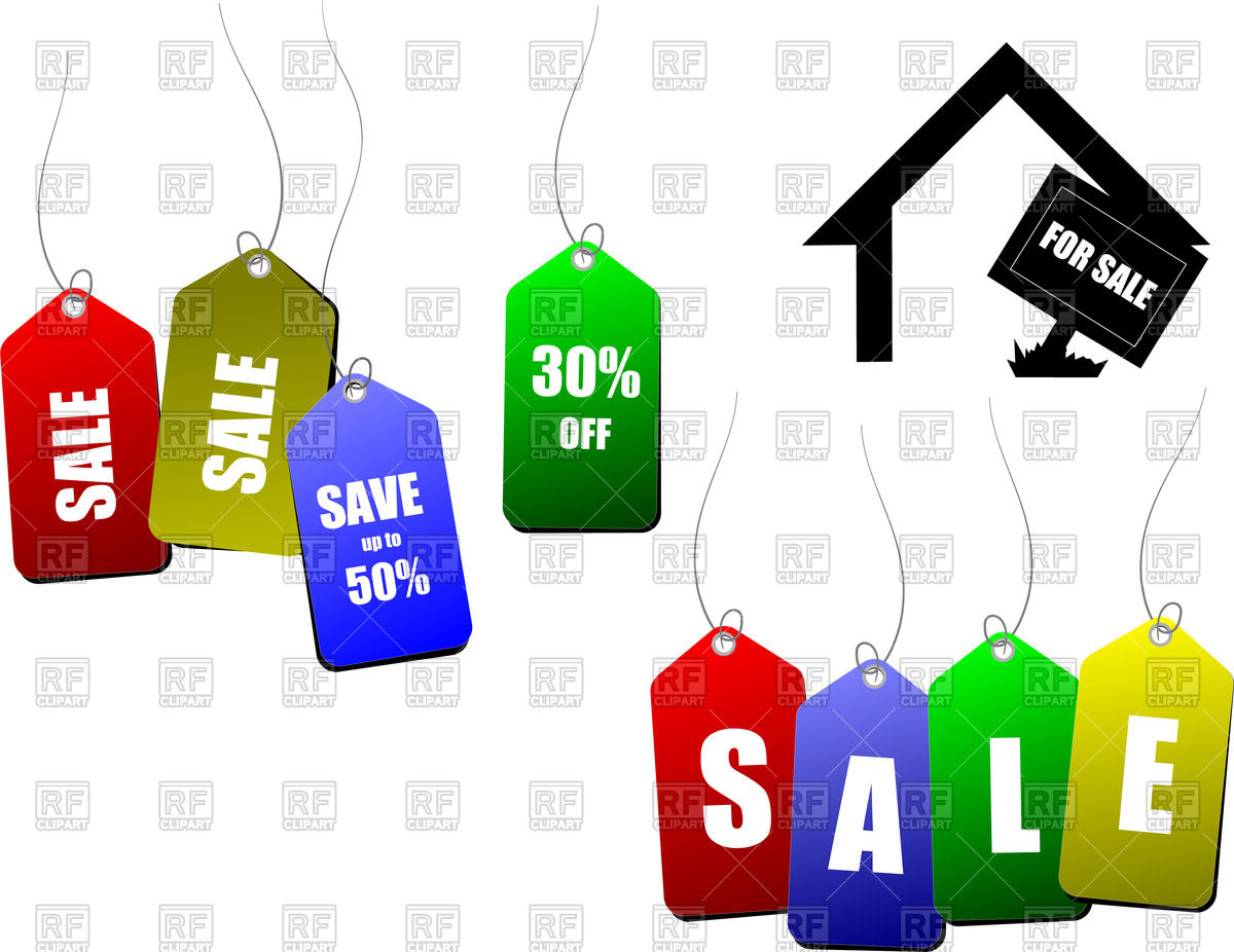 1200x926 Sale coupons and tags Royalty Free Vector Clip Art Image