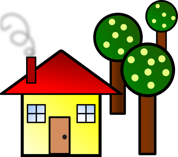 600x530 Free clip art silhouette house free vector for download about