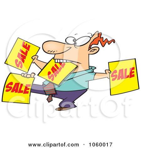 450x470 Royalty Free Vector Clip Art Illustration Of A Cartoon Salesman