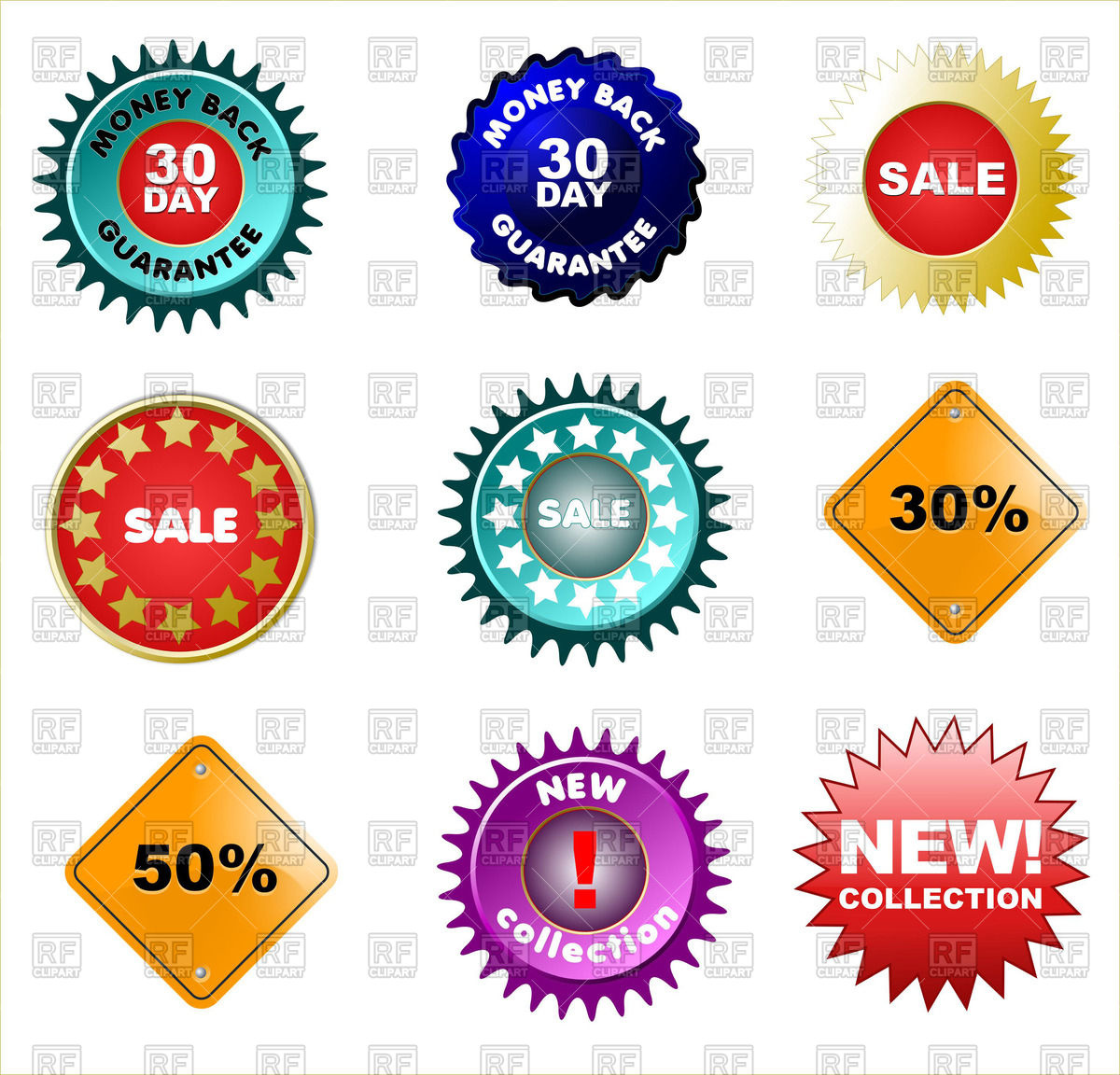 1200x1152 Badges and price tags, sale tags Royalty Free Vector Clip Art