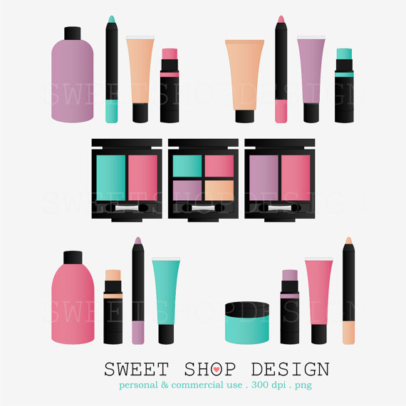570x570 Beauty Makeup Clip Art, Bridal Shower Clip Art, Royalty Free Clip