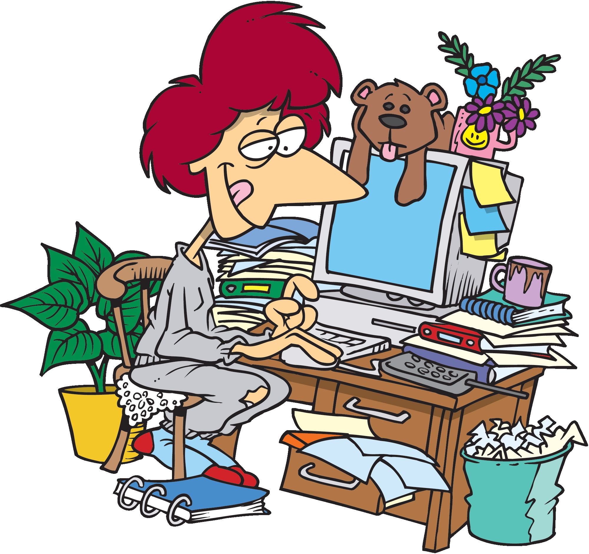 2000x1879 Clip Art Person Office Clipart