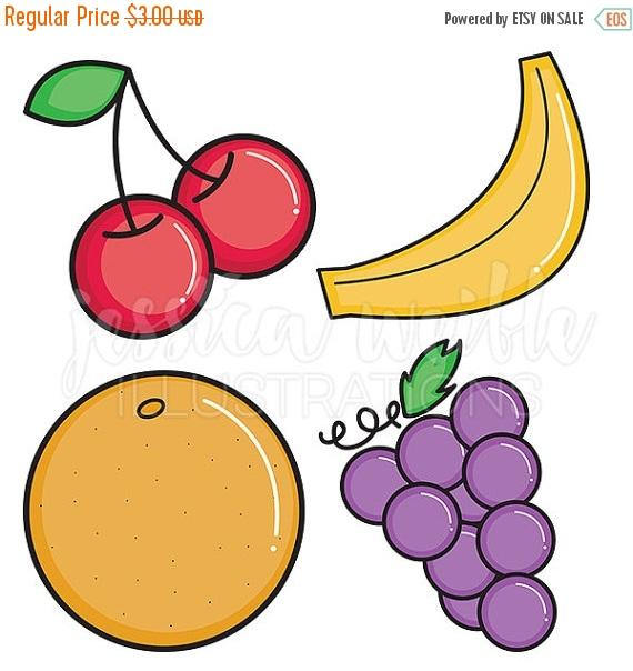 570x604 Sale Bold Fruit Cute Digital Clipart, Fruit Clip Art, Fruit