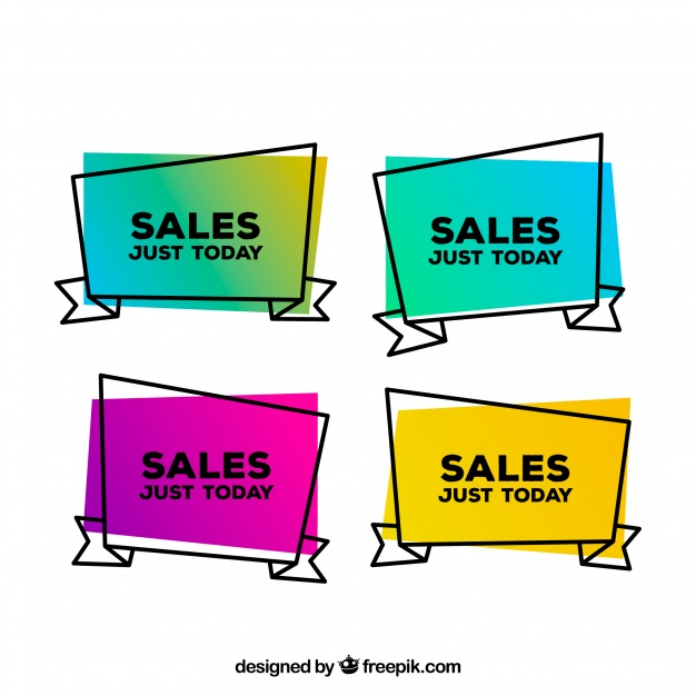 626x626 Hand drawn sale labels Vector Free Download