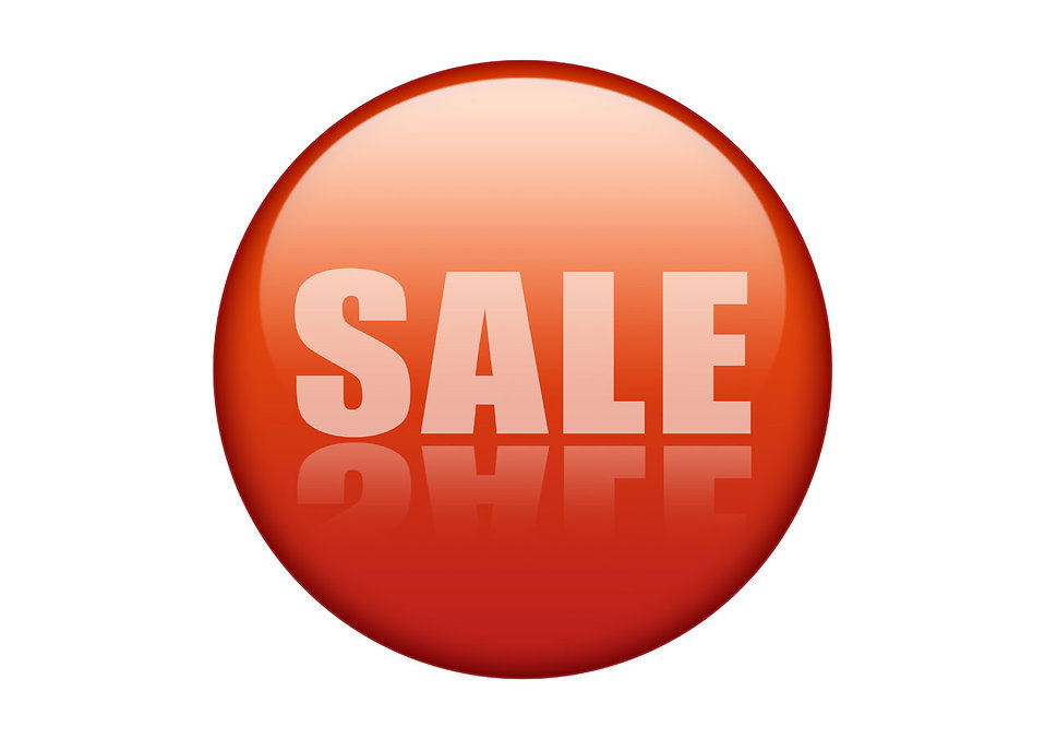 958x677 Sale Free Stock Photo Illustration of a sale button isolated