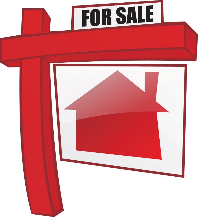 830x908 House Sale Clipart