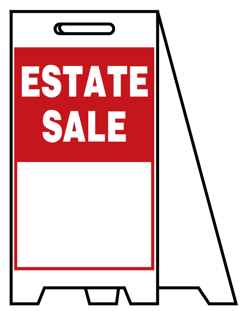 498x628 Buy Our Estate Sale Plastic A Frame Sign From Signs World Wide